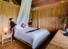 Chambre double à Hoang Su Phi Lodge