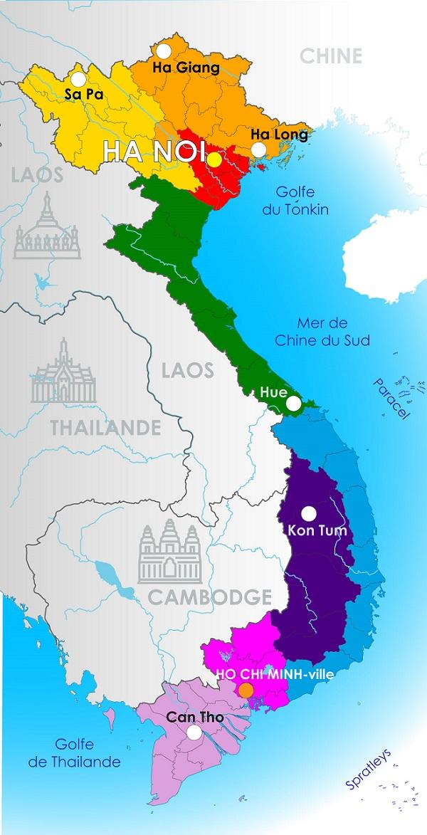 Carte Geographique Du Vietnam